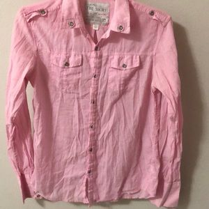 Pink woman's button up